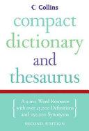 Collins Compact Dictionary   Thesaurus  2e PDF