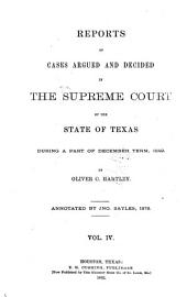 The Texas Reports: Cases Adjudged in the Supreme Court, Volume 4
