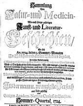 Sammlung von Natur- und Medicin- wie auch hierzu gehörigen Kunst- und Literatur-Geschichten so sich von 1717-26 in Schlesien und anderen Orten begeben ... und als Versuch ans Licht gestellet: Band 29
