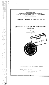 Optical Fluorite in Southern Illinois