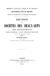 Réunion des sociétés des beaux-arts des départements ...: Volume30
