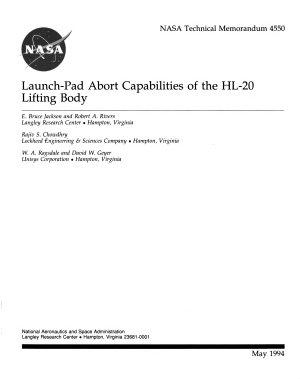 Launch pad Abort Capabilities of the HL 20 Lifting Body