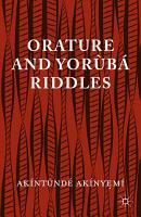 Orature and Yoruba Riddles PDF