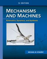 Mechanisms and Machines  Kinematics  Dynamics  and Synthesis  SI Edition PDF