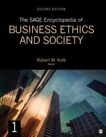 The SAGE Encyclopedia of Business Ethics and Society PDF
