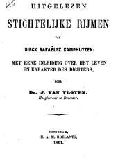 Uitgelezen stichtelijke rijmen van Dirck Rafaëlsz. Kamphuyzen