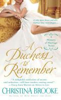 A Duchess to Remember PDF