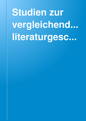Studien zur vergleichenden Literaturgeschichte: Band 8
