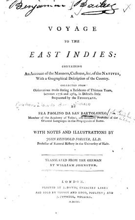 A Voyage to the East Indies  etc   PDF