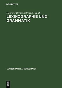 Lexikographie und Grammatik PDF