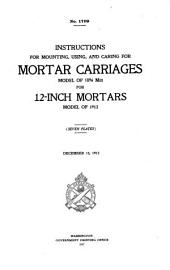 Instructions for Mounting, Using, and Caring for Mortar Carriages Model of 1896 M3 for 12-inch Mortar Model of 1912