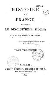 Histoire de France pendant le dix-huitième siècle