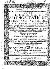 Assertiones juridicae de testamento militis, et quibus non sit permissum facere testamentum ... defendente Nicolao Göbel