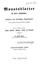 Monatsblätter für innere Zeitgeschichte: Studien der deutschen Gegenwart für den socialen und religiösen Frieden der Zukunft, Band 21