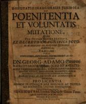 Georg Adam Struven De poenitentia et voluntatis mutatione