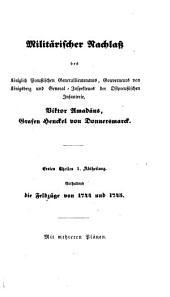 Militärischer nachlass: Bände 1-2