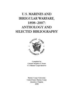 U S  Marines and Irregular Warfare  1898 2007 PDF