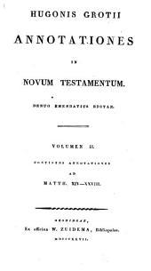 Annotationes in Novum Testamentum: Matth. XIV-XXVIII