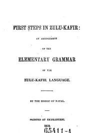 First Steps in Zulu-Kafir: an Abridgement of the Elementary Grammar of the Zulu-Kafir Language