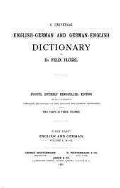 A Universal English-German and German-English Dictionary. (Allgemeines Englisch-Deutsches und Deutsch-Englisches Wörterbuch)
