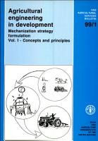 Agricultural Engineering in Development  Concepts and principles PDF