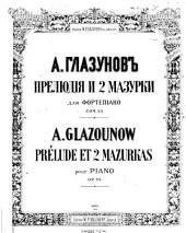 Preli︠u︡dii︠a︡ i dve mazurki dli︠a︡ fortepīano, soch. 25