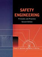 Safety Engineering PDF