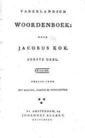 Vaderlandsch woordenboek: Volumes 1-2
