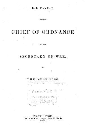 Report of the Chief of Ordnance