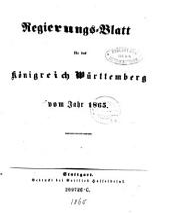 Regierungsblatt für das Königreich Württemberg: Band 17