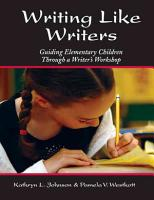 Writing Like Writers PDF