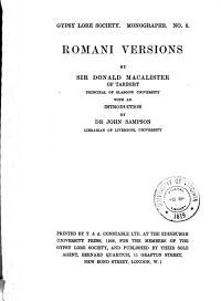 Romani Versions PDF