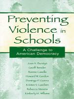Preventing Violence in Schools PDF