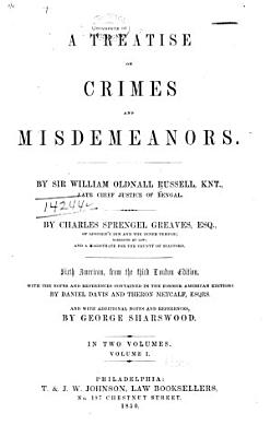A Treatise on Crimes and Misdemeanors PDF