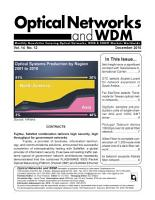 Optical Networks WDM Monthly Newletter December 2010 PDF