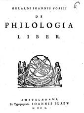 De Philologia liber