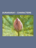 Durarara     Characters PDF