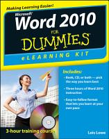 Word 2010 ELearning Kit For Dummies PDF