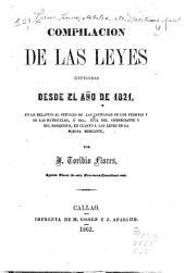 Compilación de las leyes expedidas desde el año de 1821: en lo relativo al servicio de las capitanias de los puertos y de las matriculas, ó sea, guia del comerciante y del barquero, en cuanto á las leyes de la marina mercante