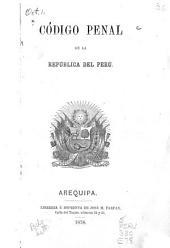 Código penal de la república del Peru