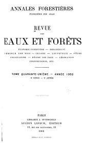 Revue des eaux et forêts: Volume41
