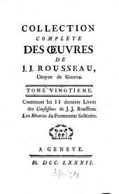 Collection complète des oeuvres: Confessions ; [5/6], Volume 20