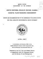 Arctic National Wildlife Refuge, Alaska, Coastal Plain Resource Assessment