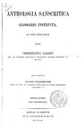 Anthologia sanscritica glossario instructa in usum scholarum edidit Christianus Lassen
