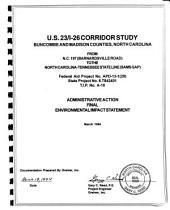 US-23/I-26 Corridor Study, Buncombe and Madison Counties: Environmental Impact Statement