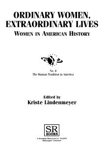 Ordinary Women  Extraordinary Lives PDF