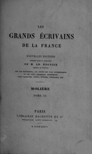 Download Oeuvres de Moli  re  Les facheux  L   cole des femmes  Remerciment au roi  La critique de l   cole des femmes  L impromptu de Versailles Book