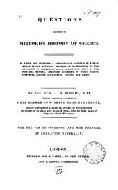 Questions adapted to Mitford's History of Greece