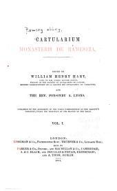 Cartularium Monasterii de Rameseia: Volume 1