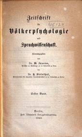 Zeitschrift für Völkerpsychologie und Sprachwissenschaft: Band 1